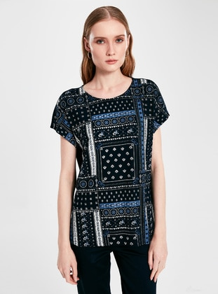 Crew neck - Navy Blue - T-Shirt