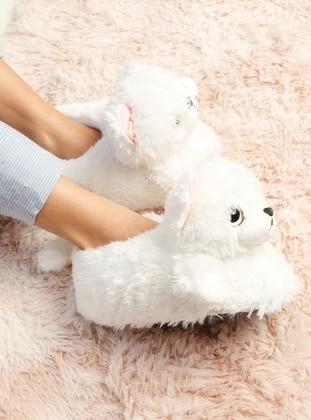 Sandal - White - Home Shoes