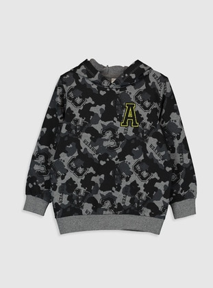 Anthracite - Boys` Sweatshirt - LC WAIKIKI