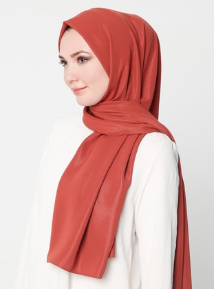 Terra Cotta - Plain - %100 Silk - Shawl - Al-Marah