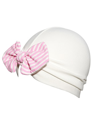 Unlined - Ecru - Pink - Girls` Beanie