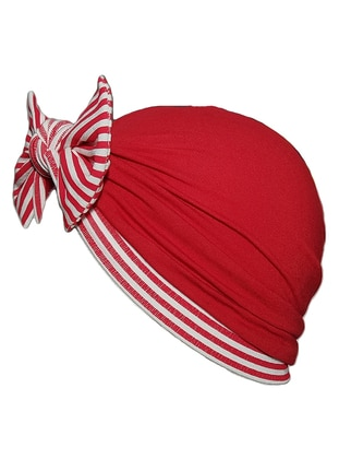 Multi -  - White - Red - Girls` Beanie
