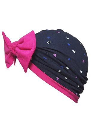 Multi -  - Navy Blue - Girls` Beanie
