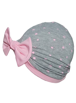 Multi -  - Gray - Pink - Girls` Beanie