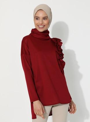 Maroon - Polo neck - Tunic