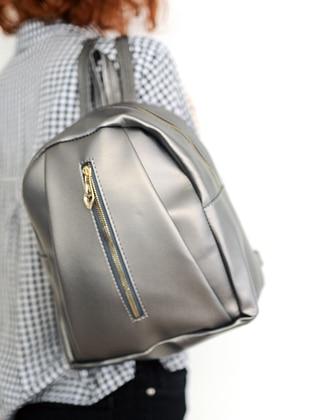Gray - Backpack - Backpacks