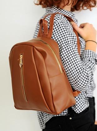 Tan - Backpack - Backpacks