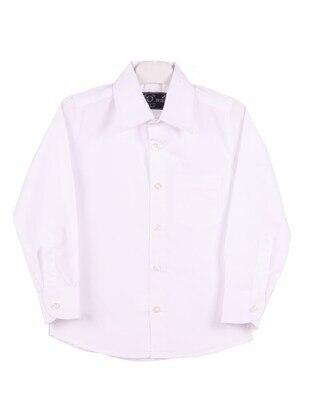 White - Boys` Shirt - E&H