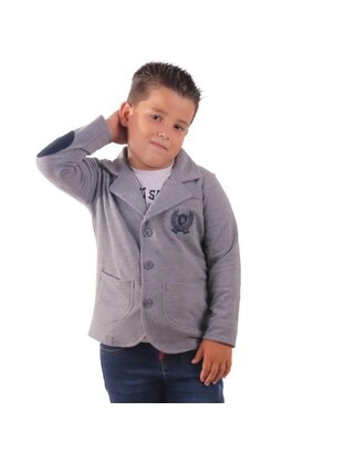 Gray - Boys` Jacket - E&H