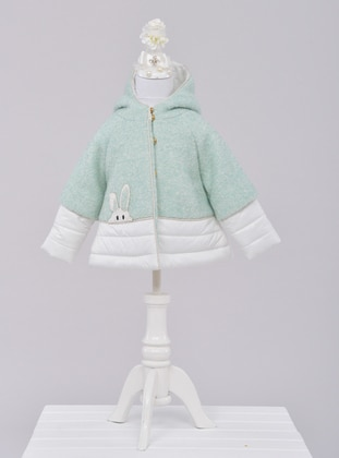 Point Collar -  - Unlined - Mint - Girls` Dress