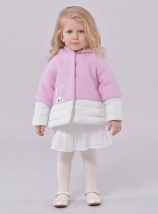 Point Collar -  - Unlined - Pink - Girls` Dress