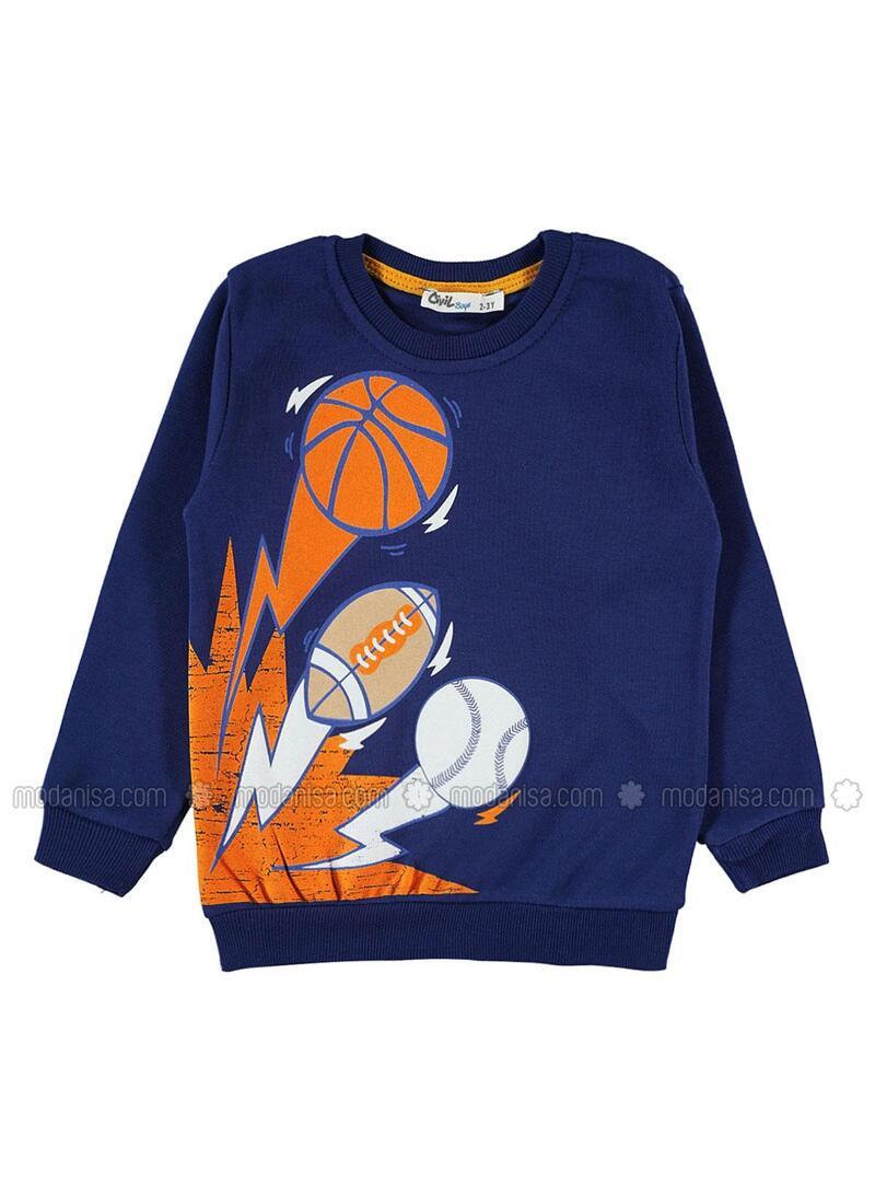 Navy Blue - Boys` Sweatshirt -  Boys
