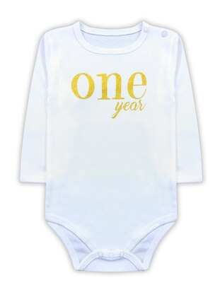 Crew neck -  - White - Baby Body