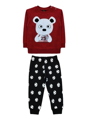 Crew neck -  - Unlined - Maroon - Baby Suit