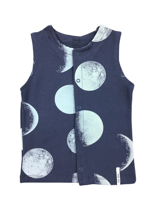 Multi - Crew neck -  - Gray - Baby Vest