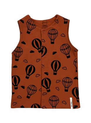Multi - Crew neck -  - Terra Cotta - Baby Vest - BY LEYAL