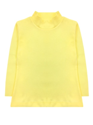 Polo neck - Unlined - Yellow - Girls` T-Shirt