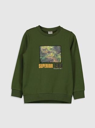 Green - Boys` Sweatshirt - LC WAIKIKI
