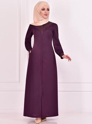 Plum - Evening Abaya