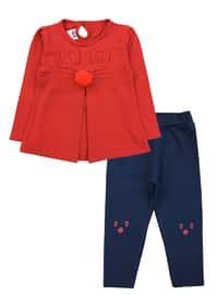Crew neck -  - Red - Baby Suit