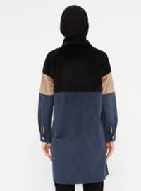 Indigo - Black - Point Collar - Tunic