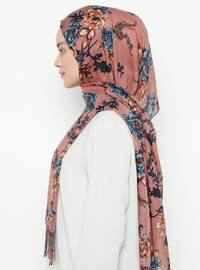 Dusty Rose - Floral - Shawl