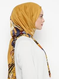 Mustard - Printed - Shawl