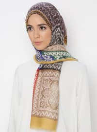 Mustard - Multi - Printed - Shawl