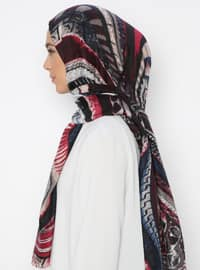Multi - Black - Printed - Shawl