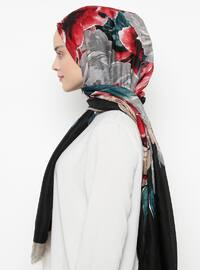Black - Printed - Shawl