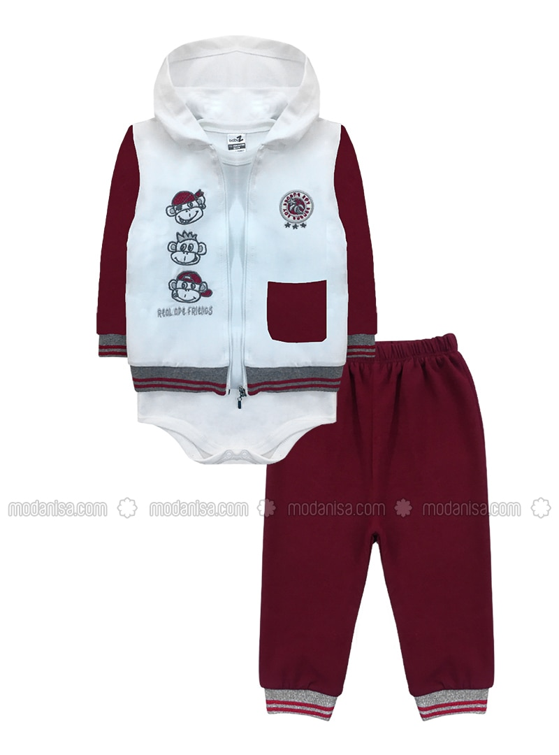 - Unlined - Maroon - Baby Suit