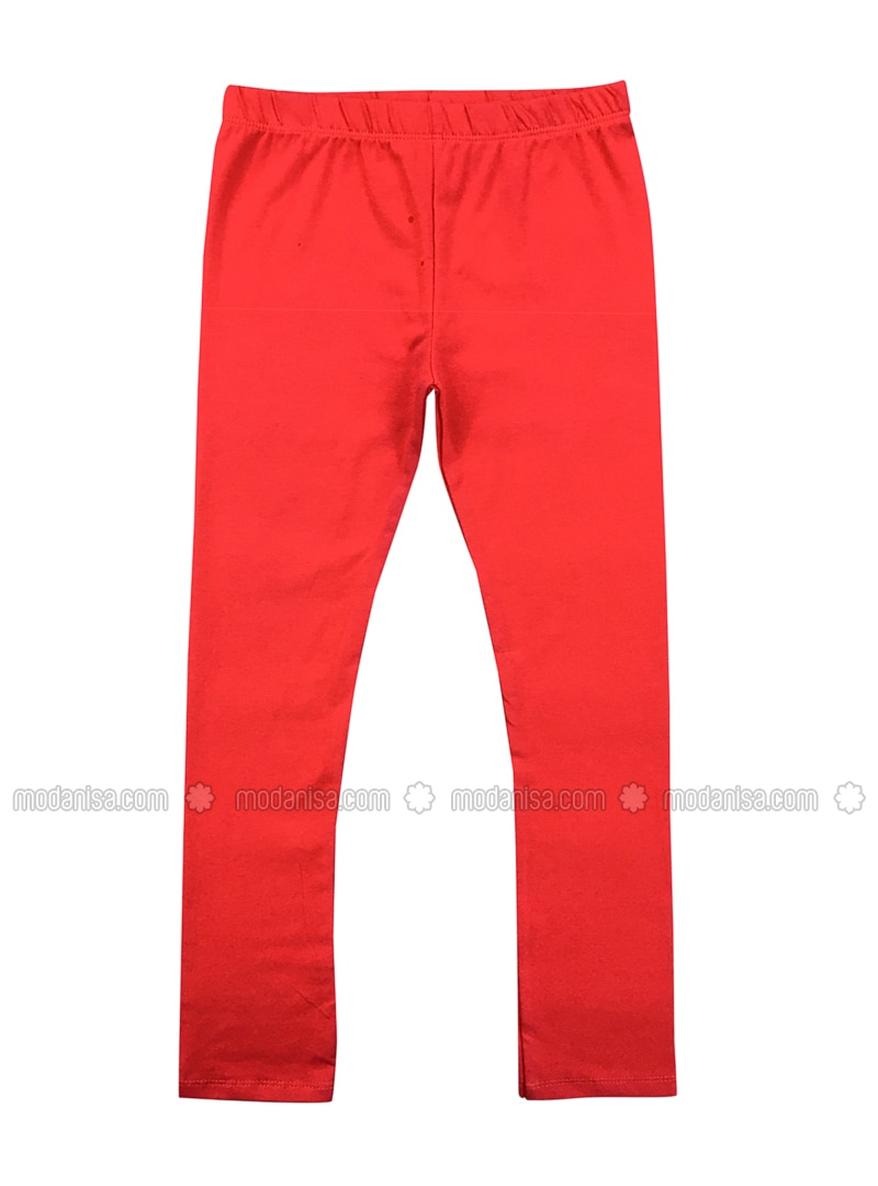 - Unlined - Red - Girls` Leggings