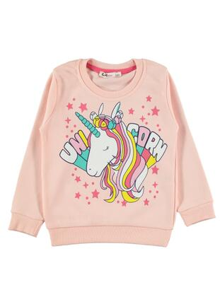 Pink - Girls` Sweatshirt - Civil Girls