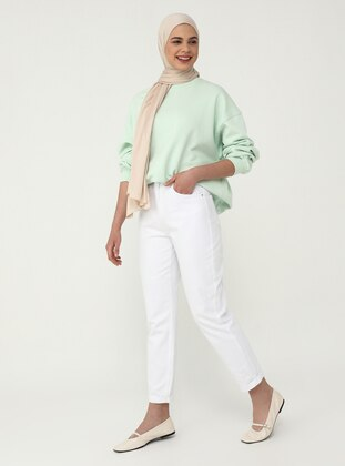White - Denim - - Pants - Benin