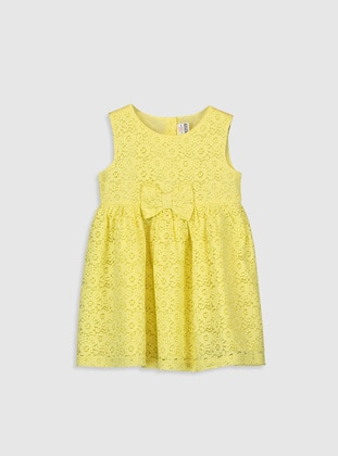 Printed - Yellow - Baby Dress - LC WAIKIKI