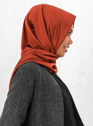 Copper - Red - Fringe - %100 Silk - Shawl