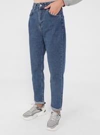 Indigo - Denim - - Pants