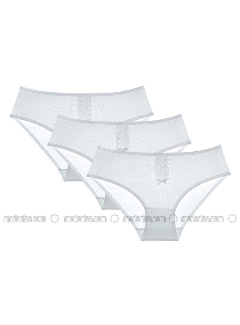 Cotton - White - Kids Underwear