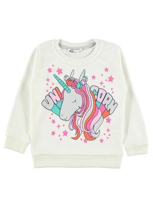 Ecru - Girls` Sweatshirt - Civil Girls