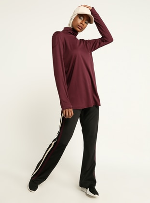 Maroon - Polo neck - Tracksuit Top - FD SPORTS