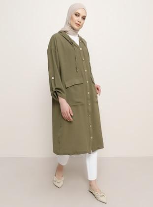 Khaki - Trench Coat - Refka