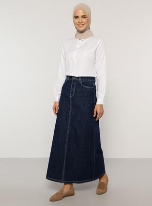 Indigo - Unlined - Denim -  - Skirt