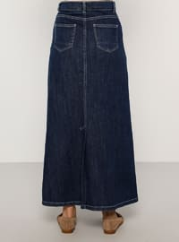 Indigo - Unlined - Denim -  - Skirt
