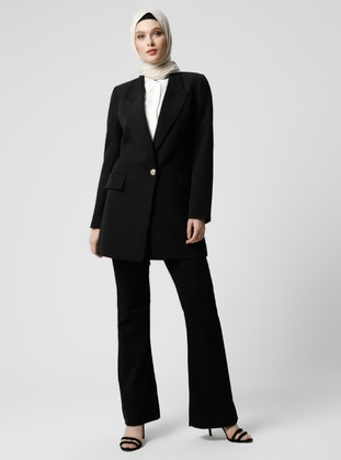 Black - Fully Lined - Shawl Collar - Jacket