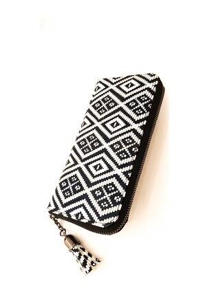 White - Black - Satchel - Wallet - Kabile
