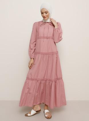 Dusty Rose - Crew neck - Unlined -  - Dress