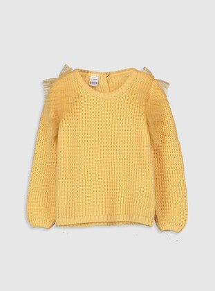 Crew neck - Orange - Girls` Pullovers