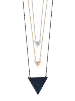 Gold - Silver tone - Multi - Necklace - Forivia Accessories