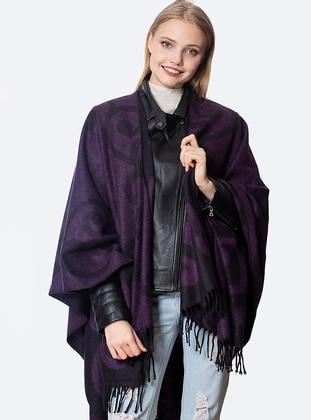 Purple - Acrylic - Poncho
