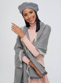 Acrylic - Beige - Printed - Shawl Wrap